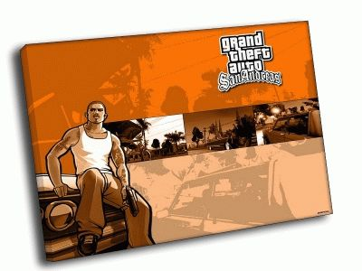 Картина grand theft auto: san andreas рыжая