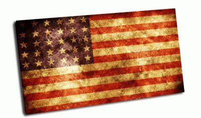 Картина гранжевый флаг сша