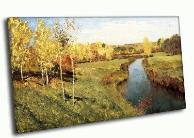 Картина и. левитан - золотая осень