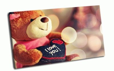 Картина i love you - teddy bear