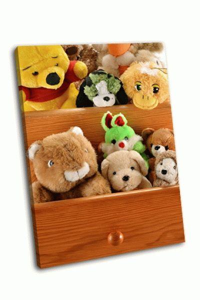 Картина игрушки в ящиках