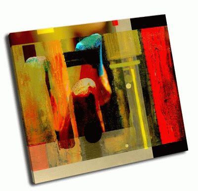Картина интересная абстрактная живопись 2