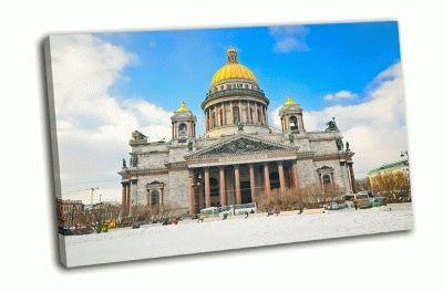 Картина исаакиевский собор, голубое небо