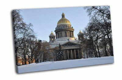 Картина исаакиевский собор зимой