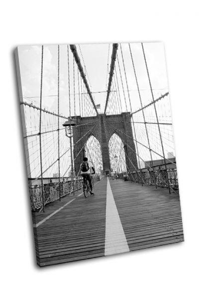 Картина исторический бруклинский мост