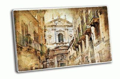 Картина итальянская улочка старого города