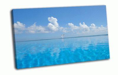 Картина йога, море, багамы