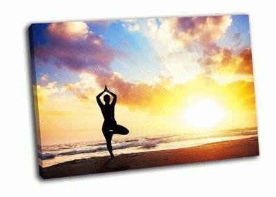 Картина йога-поза дерева