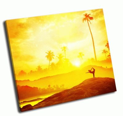 Картина йога в тропиках