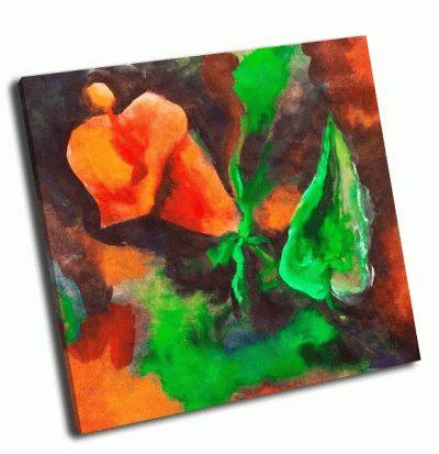 Картина каллы нарисованные, акварель