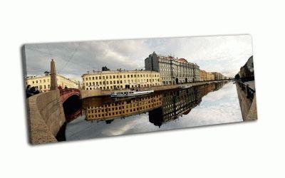 Картина канал, панорама петербург