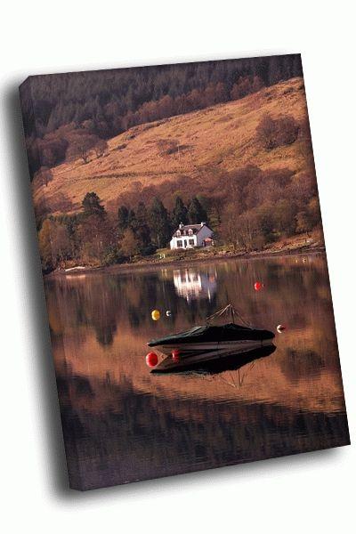 Картина катер на воде