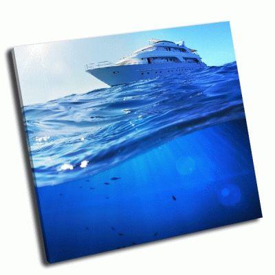 Картина катер в тропическом море