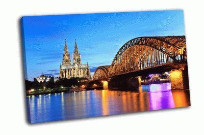Картина кельнский собор и мост гогенцоллернов