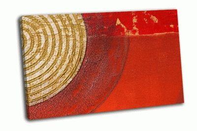 Картина художественный красный фон