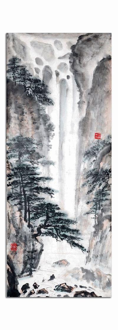 Картина китайский пейзаж, живопись-2