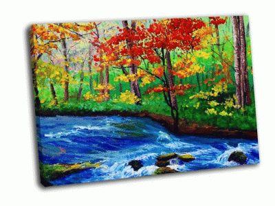 Картина клен у ручья