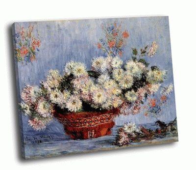 Картина клод моне - хризантемы