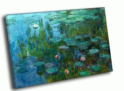 Картина клод моне - водные лилии
