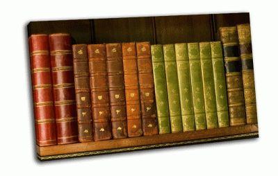 Картина книги на полке