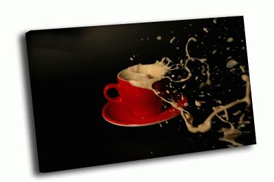 Картина кофе, капли