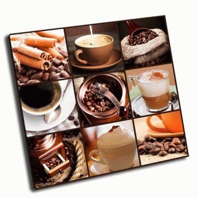 Картина кофе капучино латте, жареные бобы