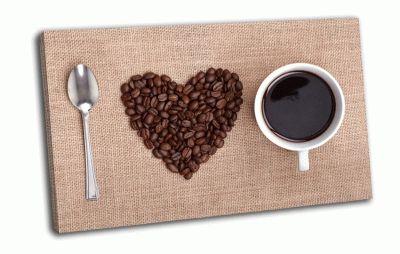 Картина кофейное сердце