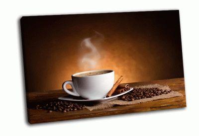 Картина кофейные зерна и палочки корицы