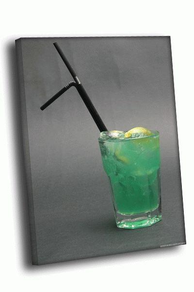Картина коктейль зеленый