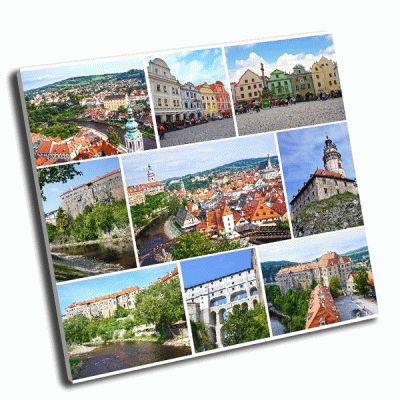 Картина коллаж чешский крумлов