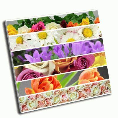 Картина коллаж из цветов