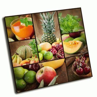 Картина коллаж из свежих фруктов