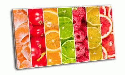 Картина коллаж из свежих летних фруктов