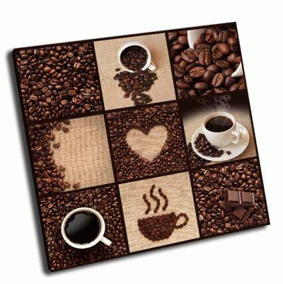 Картина коллаж-кофе