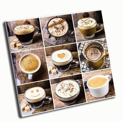 Картина коллаж-кофе эспрессо, капучино