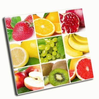 Картина коллаж-коллекция свежих фруктов
