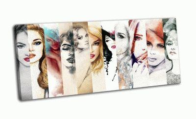 Картина коллаж лица женщин