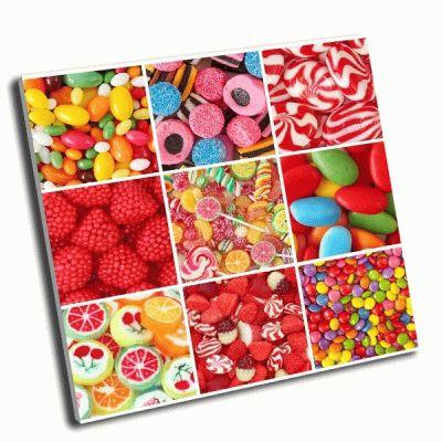 Картина коллаж-разные сладости