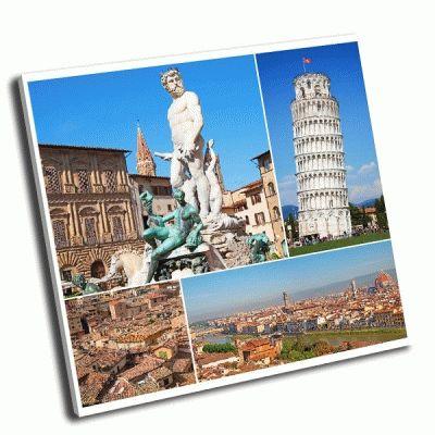 Картина коллаж региона тосканы