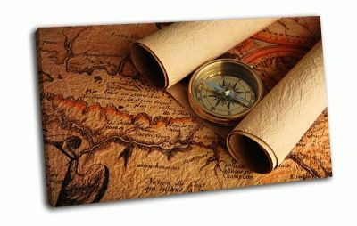 Картина компас, стрелка