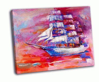 Картина корабль и море