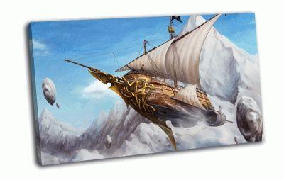 Картина корабль в небе