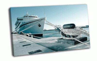 Картина корабль в порту