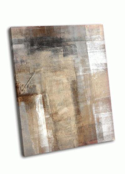 Картина коричнево-бежевый абстракт