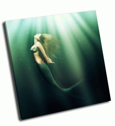 Картина красивая женщина-русалка