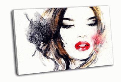 Картина красивое женское лицо