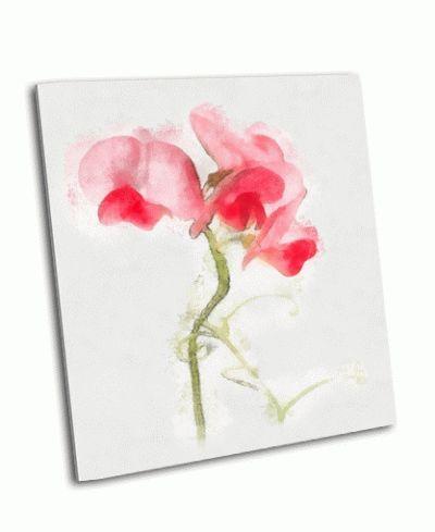 Картина красивый цветок акварелью