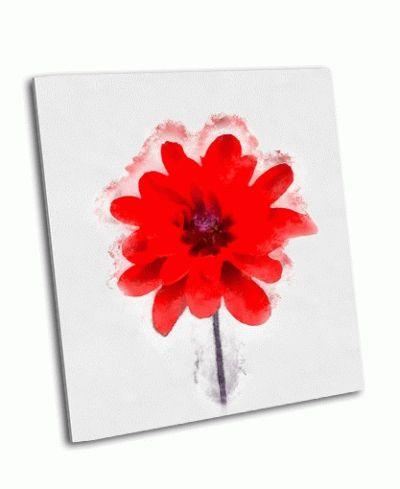 Картина красивый красный цветок
