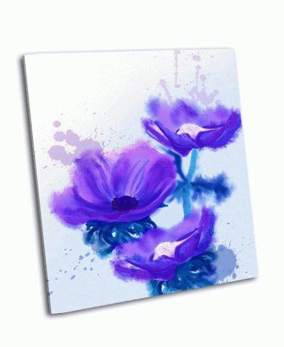 Картина красивый синий цветок