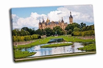 Картина красивый замок в шверине
